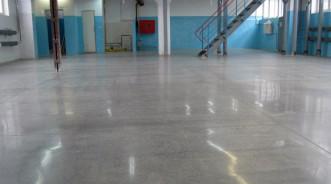 Обустройство пола из полированного бетона в производственно-складском помещении JB-Plast (Запорожье)