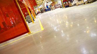 Полированный бетонный пол с гарантией на 50 лет