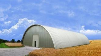 Проект строительства бескаркасного ангара размером  21х100 м