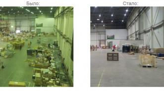 Проект освещения склада DPD площадью 3 456 кв.м. с использованием светодиодных светильников
