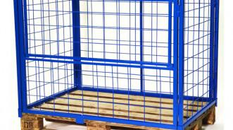 Сетчатое ограждение для поддона каркасное (контейнер для склада)
