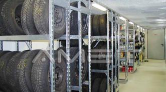 Стеллажные системы для шин и колес