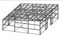 Проект мини склада 112 кв.м. из легких металлоконструкций