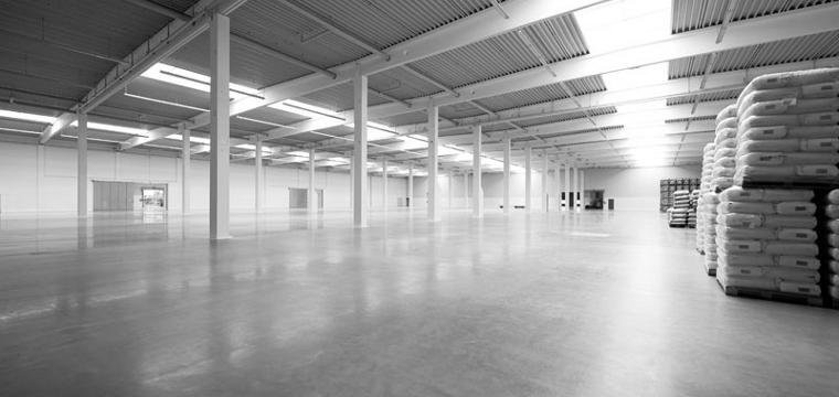 промышленный бетонный пол с упрочненным верхним слоем