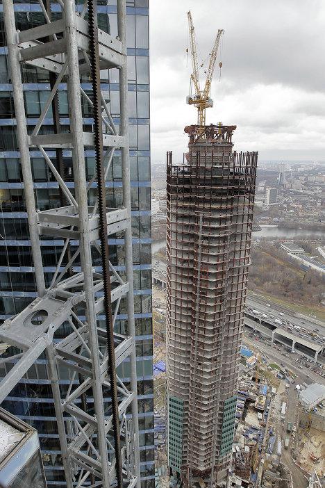 """высотный комплекс """"Москва Сити"""" - монолитное строительство"""