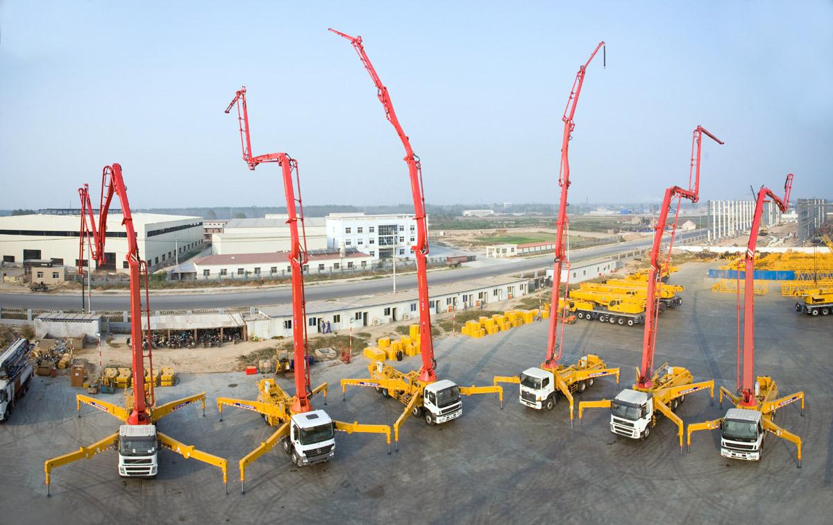 автобетононасосы с высотой доставки до 65 м