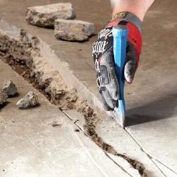 расшивка трещины бетонного пола пола