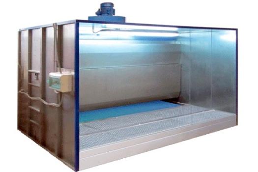 Окрасочная камера с водяным фильтром