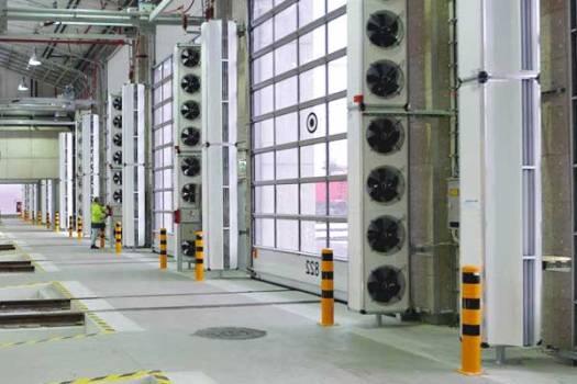 Тепловая завеса для производственного помещения