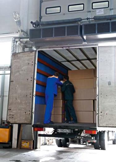 Тепловая завеса для склада