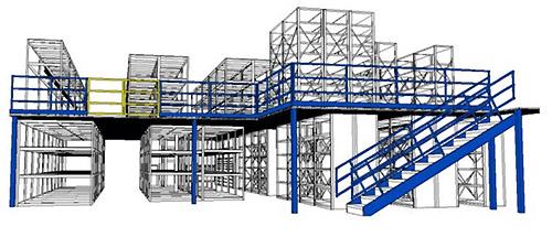 Мезонинные стеллажи производятся только по проекту