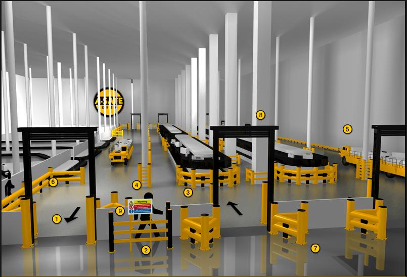 Планирование складского пространства с учетом средств безопасности A-SAFE