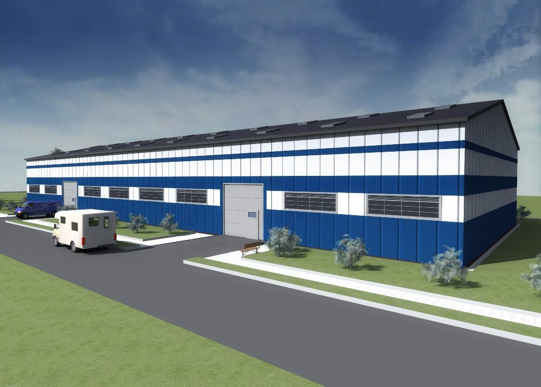 Проект строительства складского помещения площадью 1500 кв. метров