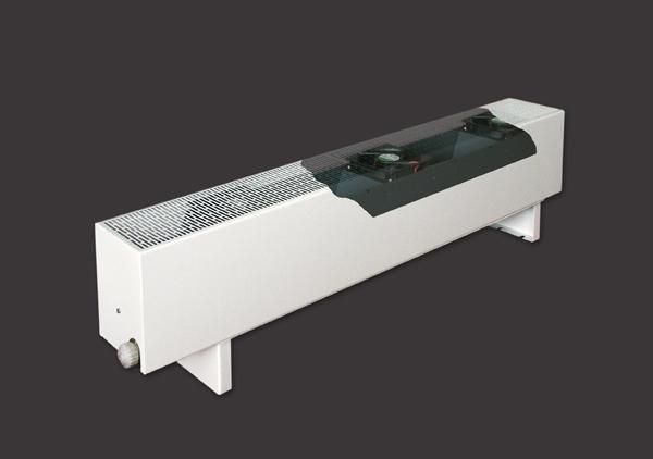 фанкойлы водяные с осевыми вентиляторами для отопления промышленных помещений