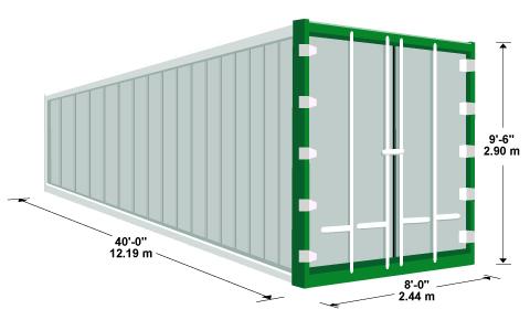 размеры рефрижераторного контейнера 40 футов HiCube
