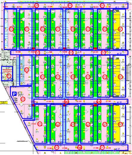 схема автоматизированной системы освещения Dali