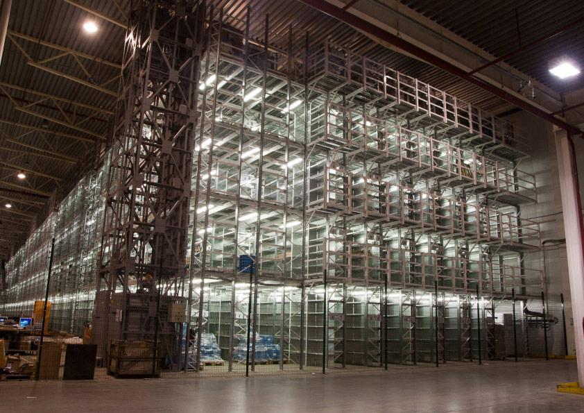 Пожаробезопасные светодиодные светильники для освещения склада мезонина