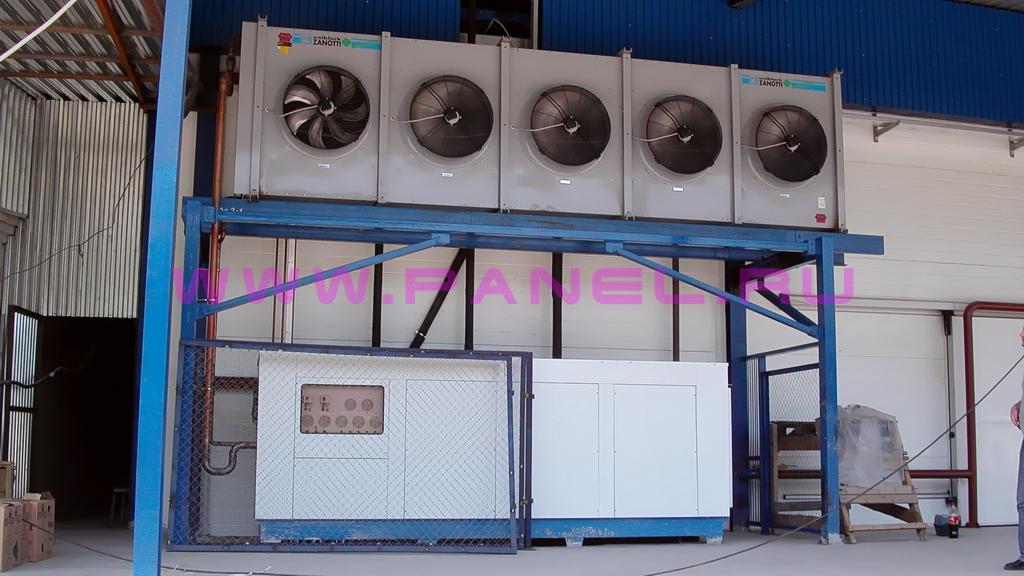 пример готового склада-холодильника по типовому проекту на 1000 тонн (вид снаружи - би блоки)
