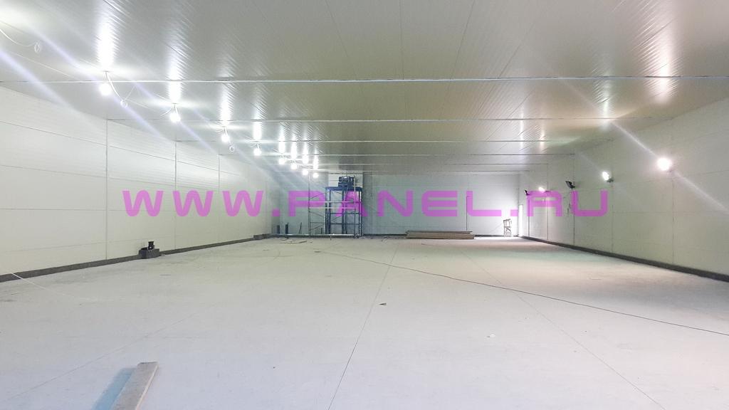 Пример готового холодильного склада 5000 т (вид изнутри)
