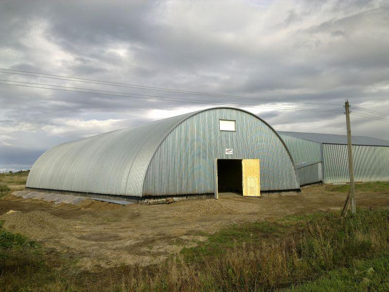 готовое картофелехранилище по типовому проекту на 2000 тонн (вид снаружи)