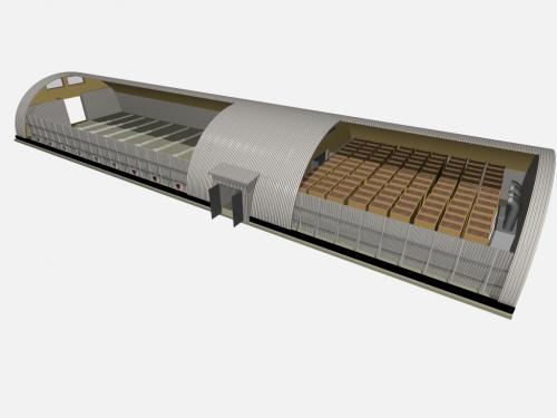 Проект картофелехранилища с тёплым тамбуром объемом 3000 тонн