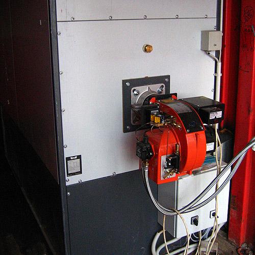 Теплогенератор в контейнере.  Временное решение -  жидкотопливная горелка