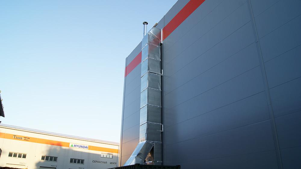 Проект воздушного отопления складского комплекса 1 100 кв.м.
