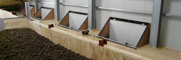 Воздухо-смесительные заслонки для овощного склада