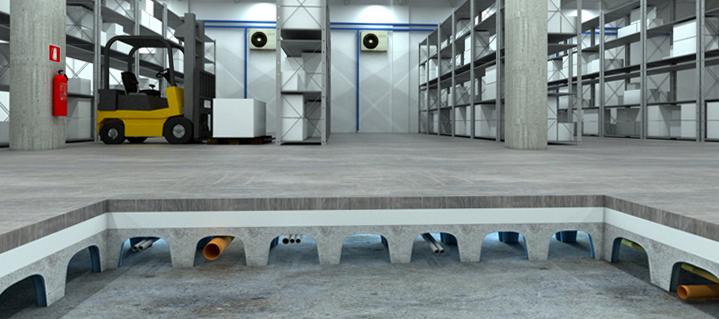 вентилируемые фундаменты для холодильного склада