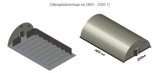 Проект строительства овощехранилища вместимостью 1800-2000 тонн