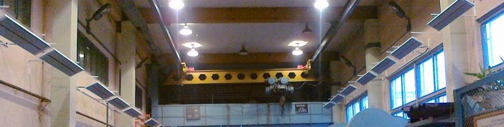 Проект отопления склада высотой в 10 метров инфракрасными обогревателями Билюкс