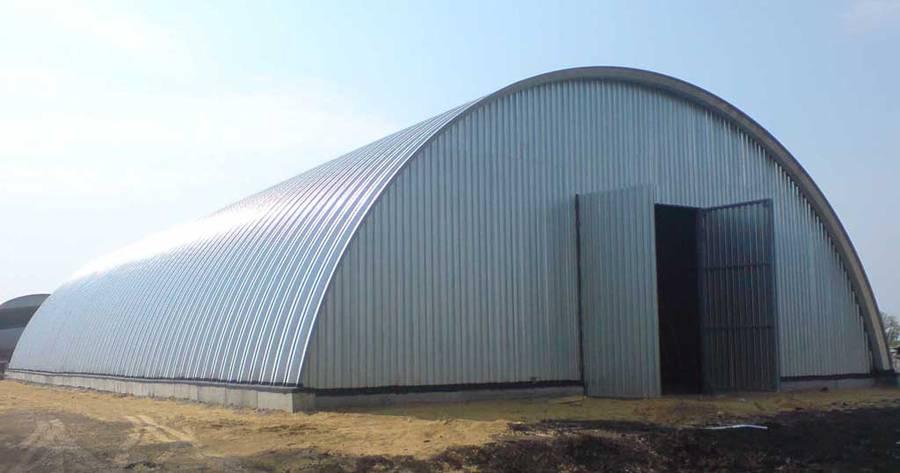 Зернохранилище на базе бескаркасного ангара на 2000 тонн