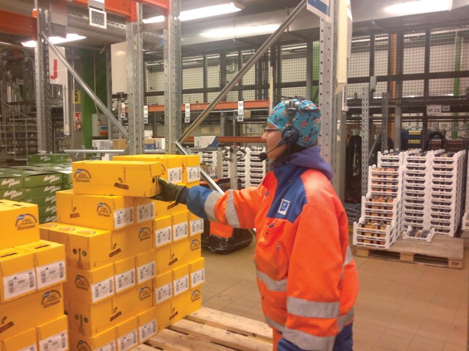 голосовая технология отбора заказов на складе молочной продукции ВАЛИО