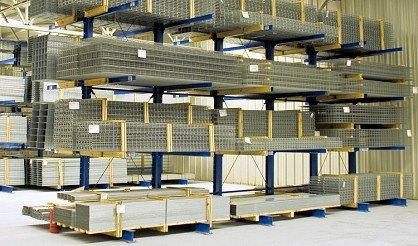консольные стеллажи для хранения металлопрофиля