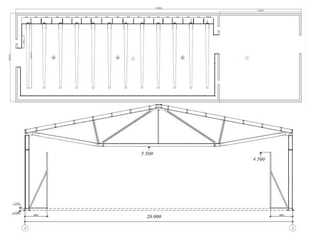 эскиз сборного овощехранилища 20 на 50 метров