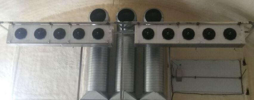 Система активной вентиляции для плодоовощных складов (фрикулинг).