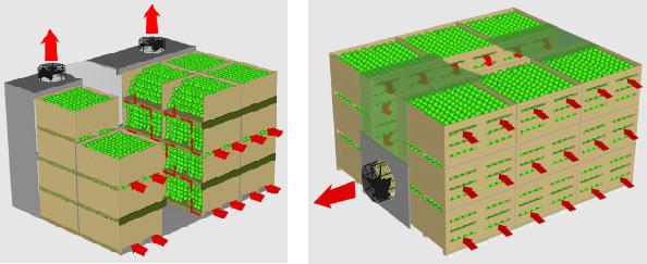 Серпантинная и туннельная схема вентиляции