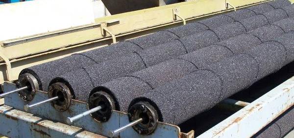 абразивные валы машины для черновой чистки