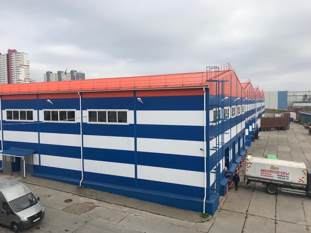Сдан очередной этап  складского терминала в Шушарах.